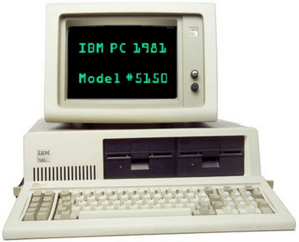 PC-XT de IBM, 1981.