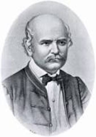 Ignaz Semmelweis discovers how to the prevent the transmission of puerperal fever