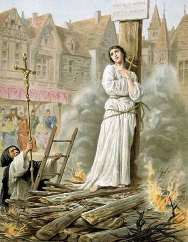 Joan d'Arc Burned at the Stake