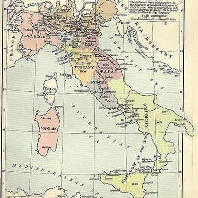 Объединение Италии timeline
