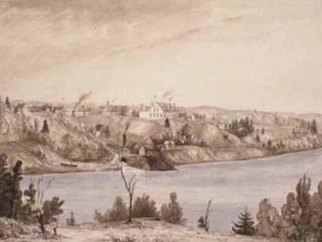 Foundation of Trois-Rivières by Laviolette