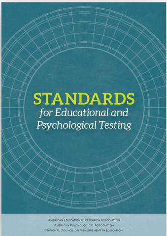 The Standards for Educational and Psychological Testing