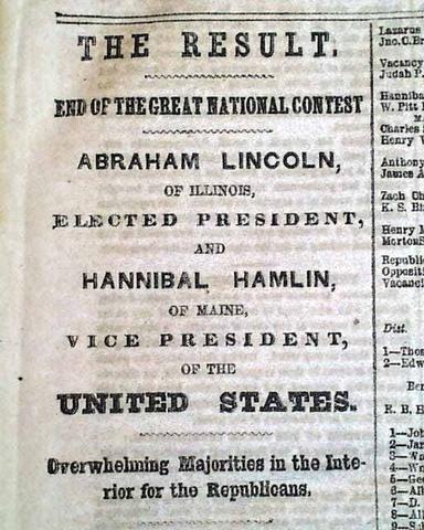Us civil war timeline timetoast timelines abraham lincoln wins preidental election of 1860 publicscrutiny Images