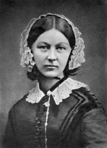 enfermera inglesa Florence Nightingale.