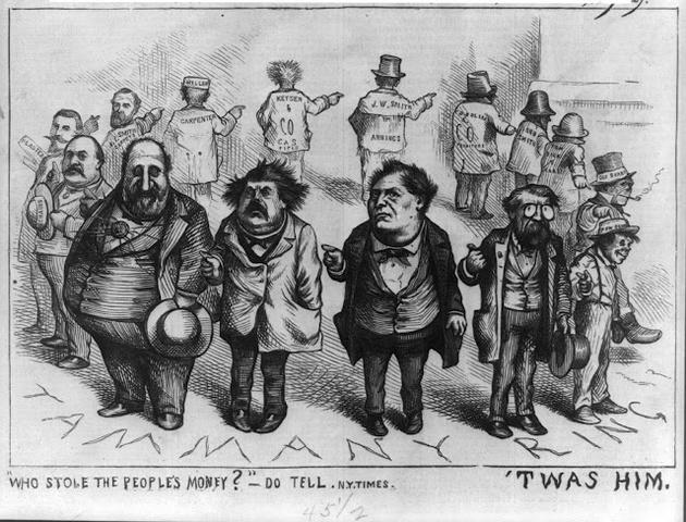 •Boss Tweed rise at Tammany Hall