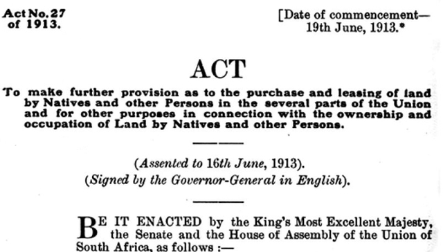 Black Land Act No. 27