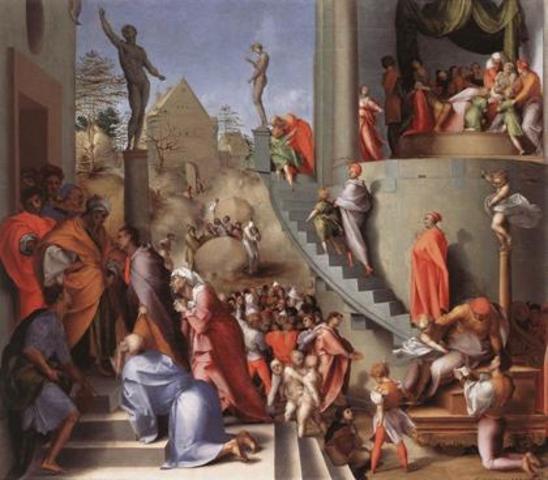 Camera Nuziale Borgherini, A.del Sarto,Pontormo e F.Granacci,Bacchiacca