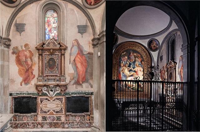 Cappella Capponi in S.Felicita: Annunciazione, Deposizione,Pontormo
