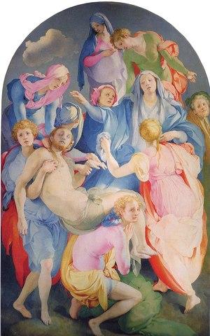 Trasporto di Cristo, Pontormo, Cappella Capponi in S.Felicita