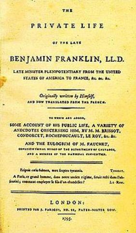США. Издание первого каталога товаров Бенджамина Франклина. по которому можно было заказать требуемый товар