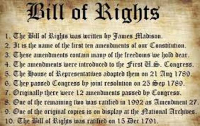 England — English Bill of Rights