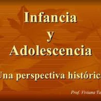 Concepción de infancia y adolescencia timeline