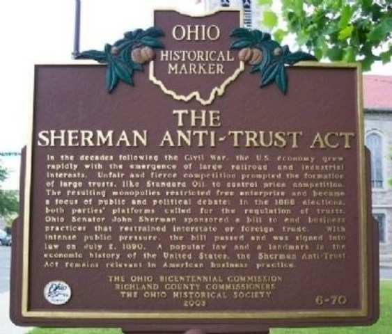 Sheerman Anti-Trust act