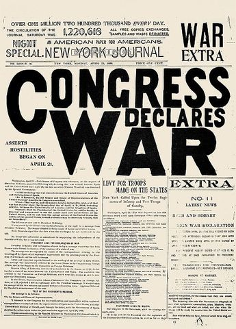 Congress declared war
