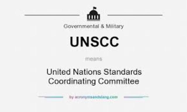1943. Comité Coordinador de las Naciones Unidas para la Normalización (UNSCC)