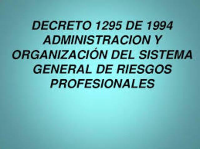 DECRETO 1295 DE 1994