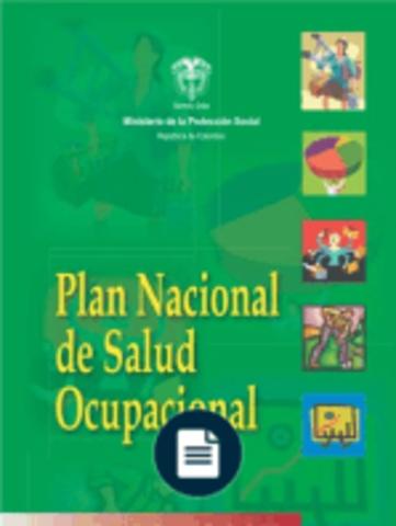 Plan Nacional de Salud Ocupacional 2003-2007