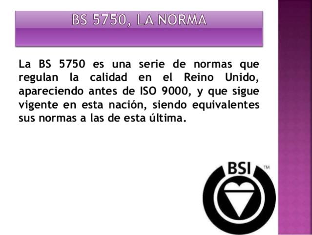 BSI Desarrolla la BS-5750