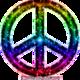 Rainbow peace symbol 1