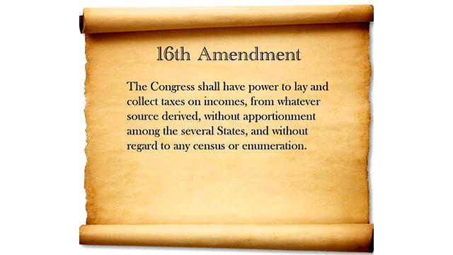 •	16th Amendment