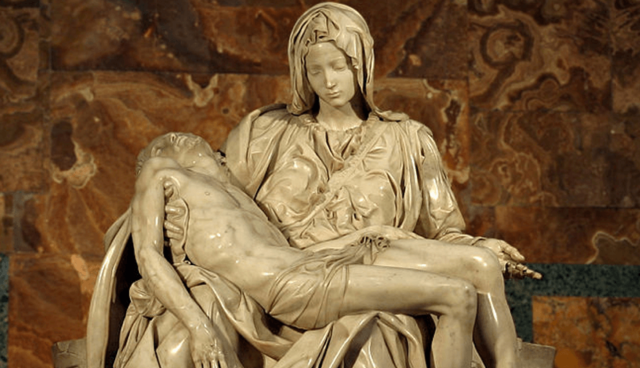 Michelangelo finished sculpting the Pieta