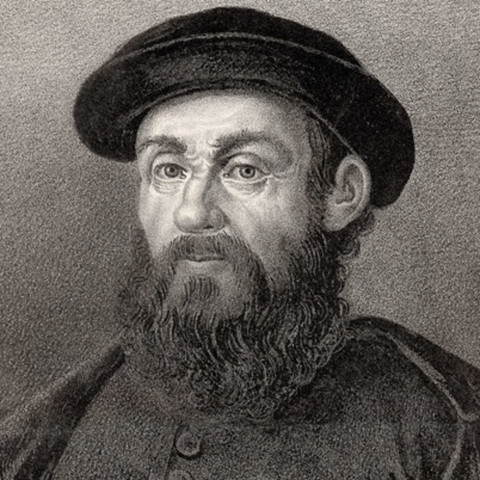 Ferdinand Magellan started his circumnavigation of the globe.