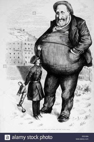 •	Boss Tweed rise at Tammany Hall