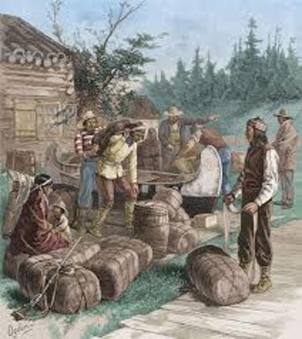 Control of the fur trade by the British merchants