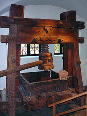 Gutenberg invention of printing and development of the book