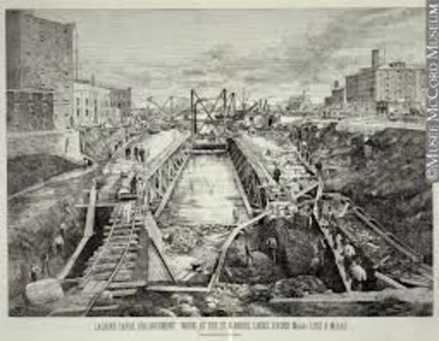 Construction of the Lachine canal