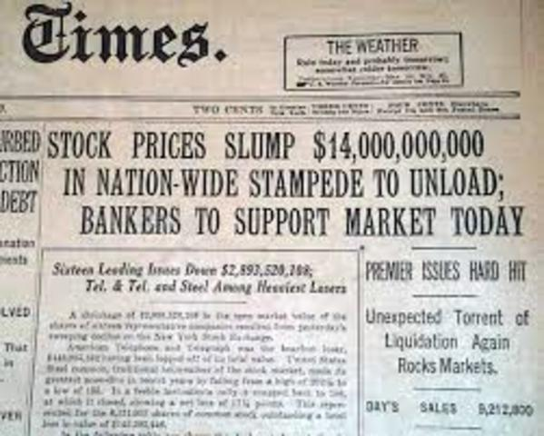 Stock Market Crash in New York