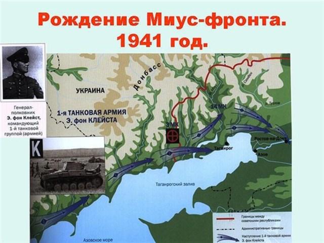 Миус-фронт. Начало строительства системы немецких оборонительных сооружений.