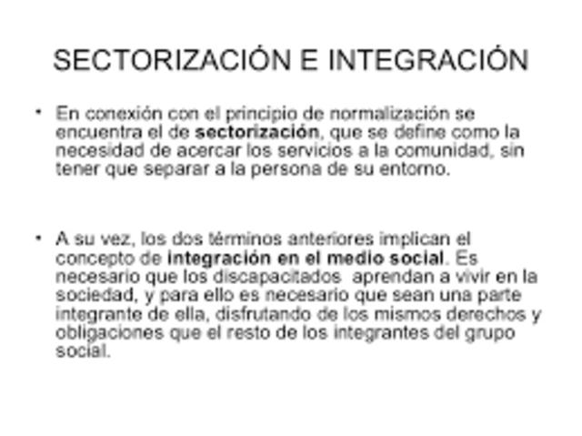 Principio de Sectorización.
