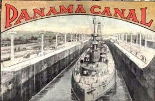 •	Panama Canal U.S. Construction Begins