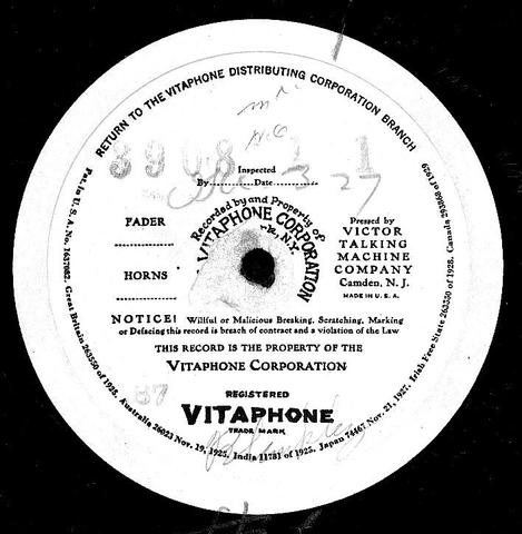 The first Vitaphone sound film