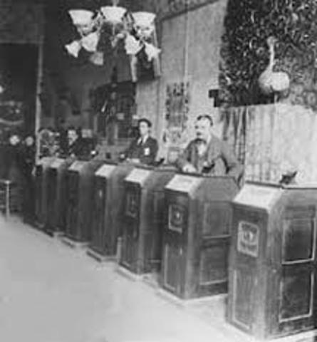 The first kinetoscope  parlor
