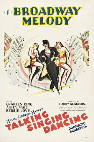 """First """"All-Talking, All-Singing, All-Dancing"""" Film -The Broadway Melody"""
