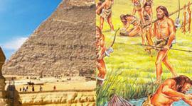 tijdlijn oude Egypte en jagers en boeren timeline