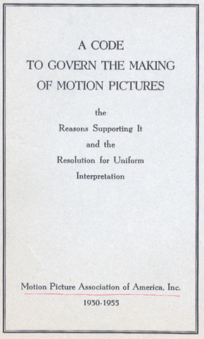 The Motion Picture Production Code