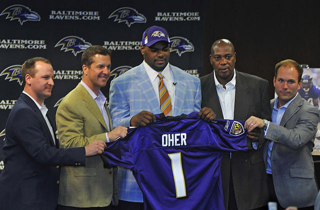 Michael Oher drafted by the Baltimore Ravens
