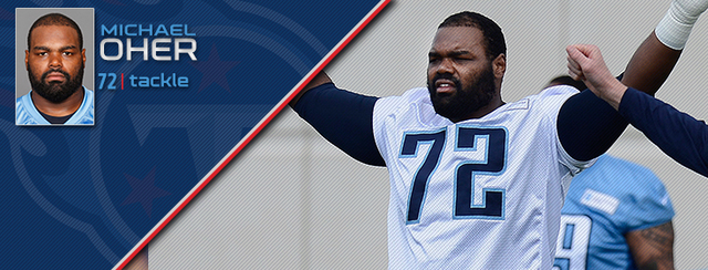 Michael Oher signs for the Tennessee Titans
