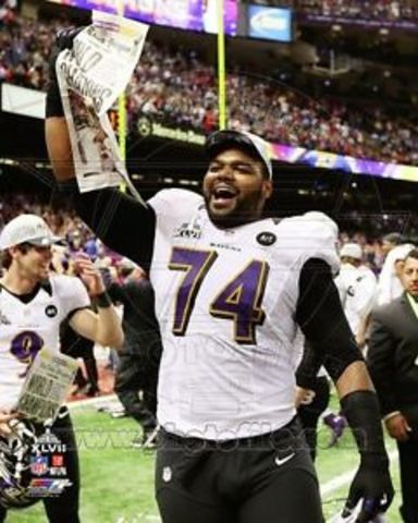 First Super Bowl ring for Michael Oher XLVII
