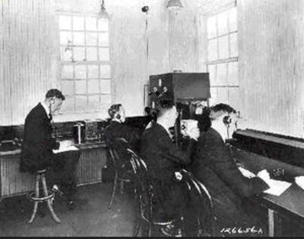 The first radio broadcast