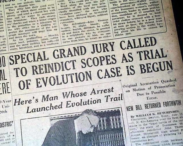 "•	Scopes ""Monkey"" Trial"