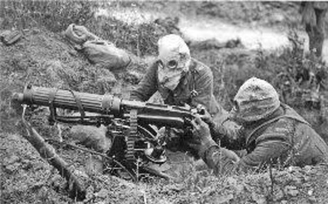 Trench Warfare, Poison Gas, and Machinery Guns