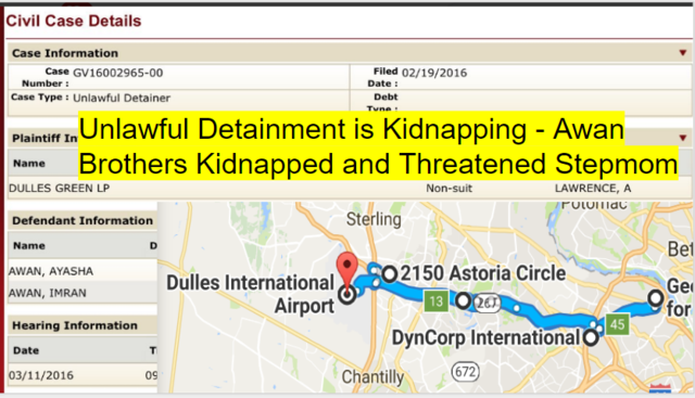 Unlawful Detainment - Upscale Dulles Airport Condos