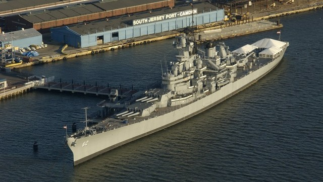 The U.S.S. New Jersey battleship