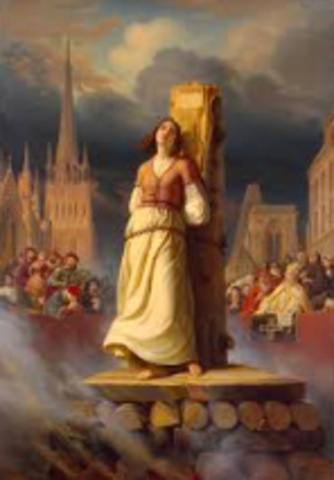 Joan of act burned at the stake