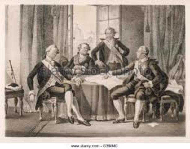 The Treaty of Aix-la-Chapelle was signed.