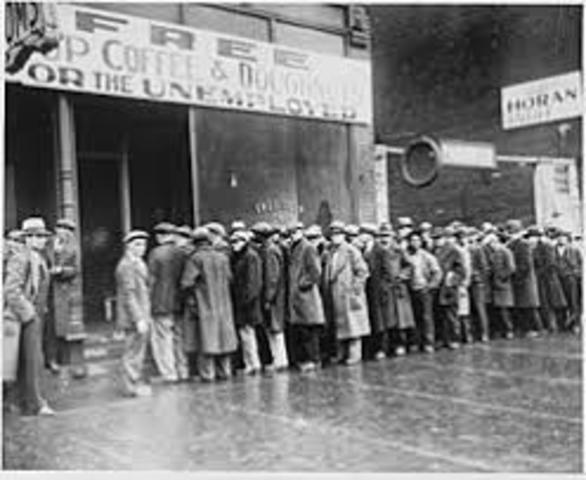 Huge stock market crash known as the Great Depression. It lasted for 10 years.